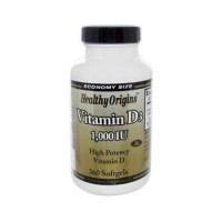 Healthy origins vitamin d3 1000 iu - 360 softgels