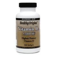 Healthy Origins Vitamin D3 - 5000 IU - 360 ea