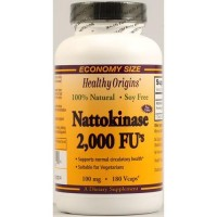 Healthy origins nattokinase 2000 fus veg capsules 100 mg - 180 ea