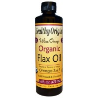 Healthy origins organic flax oil ultra omega - 16 oz