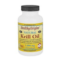 Healthy Origins 1000 mg Natural Krill Oil Softgels - 120 ea