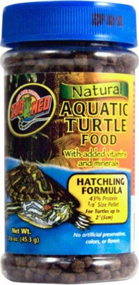 Zoo Med Laboratories Inc natural aquatic turtle food - hatchling formula - 1.6 ounce, 144 ea