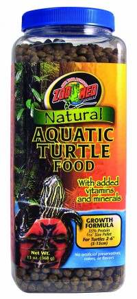Zoo Med Laboratories Inc natural aquatic turtle food growth formula - 13 ounce, 24 ea