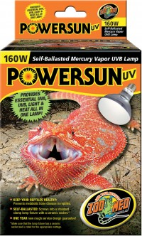 Zoo Med Laboratories Inc powersun uv self-ballasted mercury vapor uvb lamp - 160 watt, 6 ea