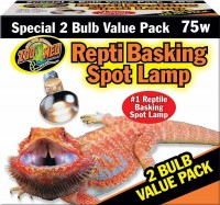Zoo Med Laboratories Inc repti basking spot lamp - 75 watt/2 pack, 36 ea
