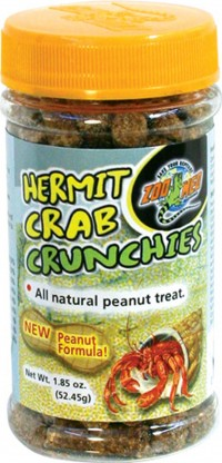 Zoo Med Laboratories Inc hermit crab crunchies natural peanut treat - 1.85 ounce, 144 ea