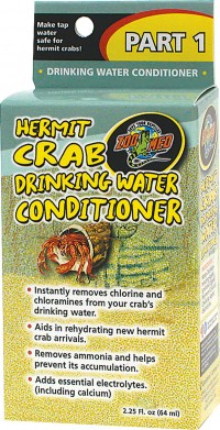 Zoo Med Laboratories Inc hermit crab drinking water conditioner - 2.25 ounce, 144 ea