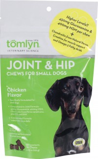 Tomlyn Products D joint and hip chews for small dogs - 30 count, 12 ea
