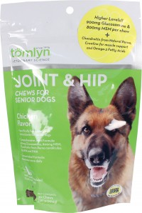 Tomlyn Products D joint and hip chews for senior dogs - 30 count, 12 ea