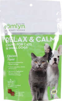 Tomlyn Products D relax and calm chews for cats and small dogs - 30 count, 12 ea