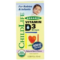 Childlife, Organic Vitamin D3 Drops, Natural Berry Flavor - 0.338 oz