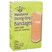 All Terrain waterproof strong strip bandages 1 inch, Latex Free - 20 ea