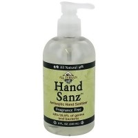 All Terrain hand sanz antiseptic hand sanitizer, fragrance free - 8 oz