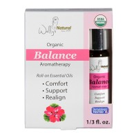 Wallys natural products aromatherapy blend organic rollon essential oils balance - 0.33 oz