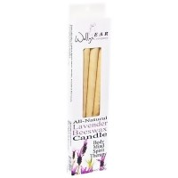Wallys Natural Lavender Beeswax Candles - 4 Ea