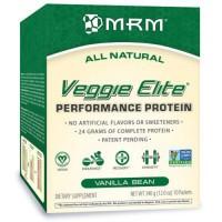 MRM all natural veggie elite protein, vanilla bean - 12 oz