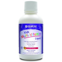 MRM kids multi vitamin liquid, orange mango - 16 oz