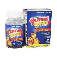 Yummi Bears echinacea with vitamin C and zinc natural immune support gummies - 40 ea