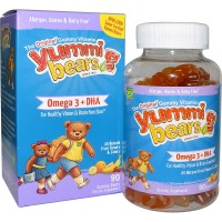 Yummi Bears Omega 3 Plus DHA - 90 Gummies