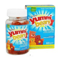 Yummi Bears vitamin D3 dietary supplement gummies with natural fruit flavors - 60 ea
