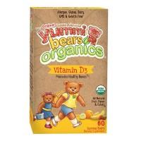 Yummi bears organics vitamin d3 - 60 ea