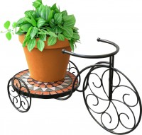 Panacea Products rustica italia mosaic tile tricycle plant stand - 23x15x14, 2 ea