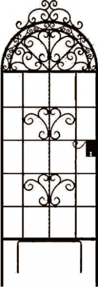 Panacea Products rustic italia trell gate w/optional pivot foot - 72 inch, 5 ea