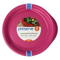 Preserve everyday plates pink 4 pack - 9.5 in