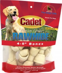 Ims Trading Corporation rawhide knotted bone 4-5in value pack - 10 ea