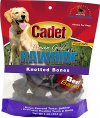 Ims Trading Corporation rawhide knotted bone value pack - 1 lb, 10 ea
