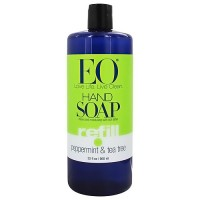 EO Essential Oil peppermint and tea tree liquid hand soap refill - 32 oz