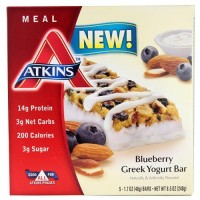 Atkins Blueberry Greek Yogurt Bar  5/1.7Oz bars