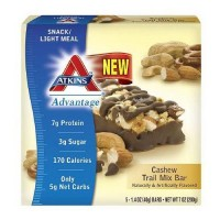 Atkins advantage cashew trail mix bar - 1.4 oz, 5 pack
