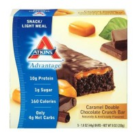 Atkins advantage caramel double chocolate crunch bar - 5 ea