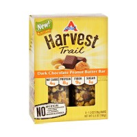 Atkins Harvest Trail Dark Chocolate Peanut Butter Bar - 1.3oz, 5 ea