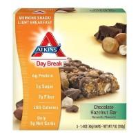 Atkins day break chocolate hazelnut bar - 1.4 oz, 5 pack