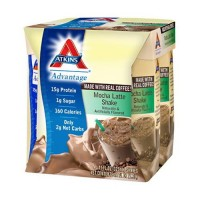 Atkins advantage mocha latte shake - 11 oz, 4  pack