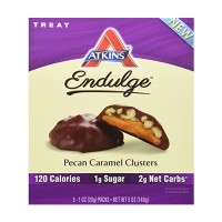 Atkins endulge pieces peanut caramel cluster bar - 5 oz, 1 Case