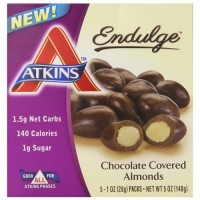 Atkins endulge chocolate covered almonds - 5 ea,4 pack