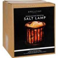 Evolution salt crystal salt lamp wooden basket - 1 Count