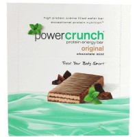 Power crunch protein energy bars, chocolate mint original - 40 gms, 12 pack