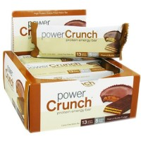Bionutritional power crunch high protein energy wafer bar, peanut butter fudge - 1.4 oz, 12 pack