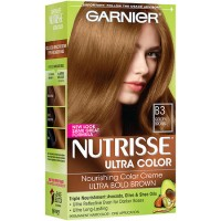 Garnier nutrisse nourishing nutri-browns lightening color cream, golden brown kit - 12 ea
