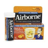 Airborne Effervescent Health Formula Tablets, Orange - 10 Ea
