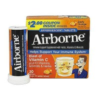 Airborne effervescent health formula dietary supplement tablets, zesty orange - 3 ea