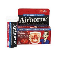 Airborne immune support supplement with herbs, vitamins and minerals, very berry - 10 ea