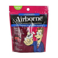 Airborne immune Support Lozenges, Minerals, Vitamin C and Berry, 20 ea