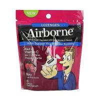 Airborne immune Support Lozenges, Minerals, Vitamin C and Berry, 20 ea