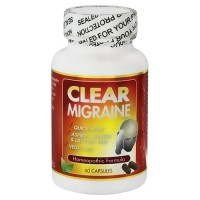 Clear the Pain Clear Migraine homeopathic capsules, 60 ea