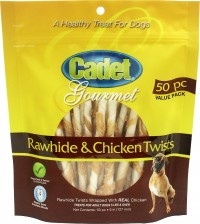 Ims Trading Corporation cadet gourmet rawhide & chicken twist - 50 pk, 12 ea